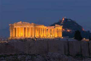 noční Parthenon