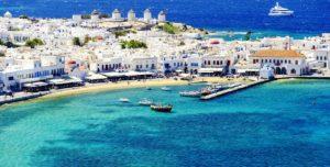 ostrov Mykonos v Řecku